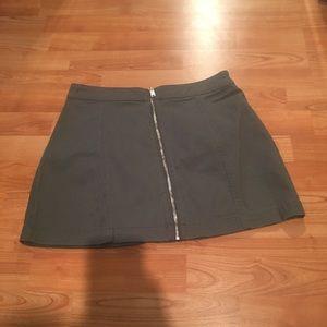 Navy green skirt